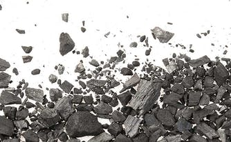 image of graphite, which is used as a cooling feature in bedding products