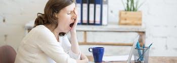 image of sleep deprived woman