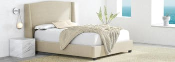 image of upholstered mattress foundation and frame