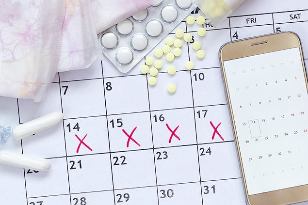 image of menstrual cycle calendar