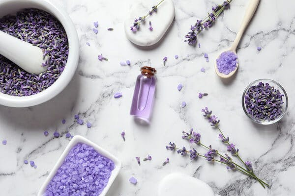 image of lavender and epsom salts