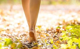 image of feet earthing on ground
