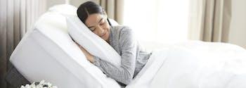 image of person sleeping on adjustable base
