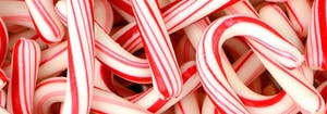 pile of holiday candy canes