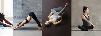 stretching before bed - image of women in yoga stretches