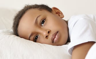 image of child with sleep disorder