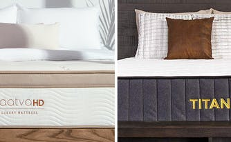 image of saatva hd vs titan mattress