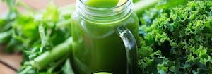glass of lettuce water for sleep