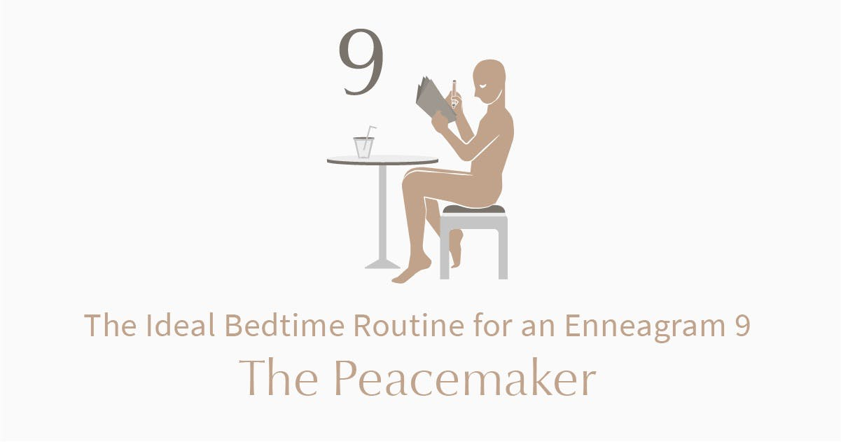 person who is an enneagram type 9 journaling at table