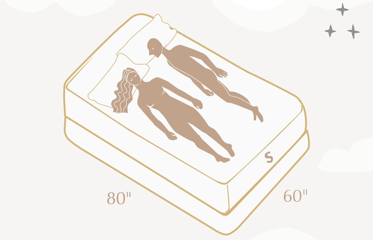couple lying on queen size bed