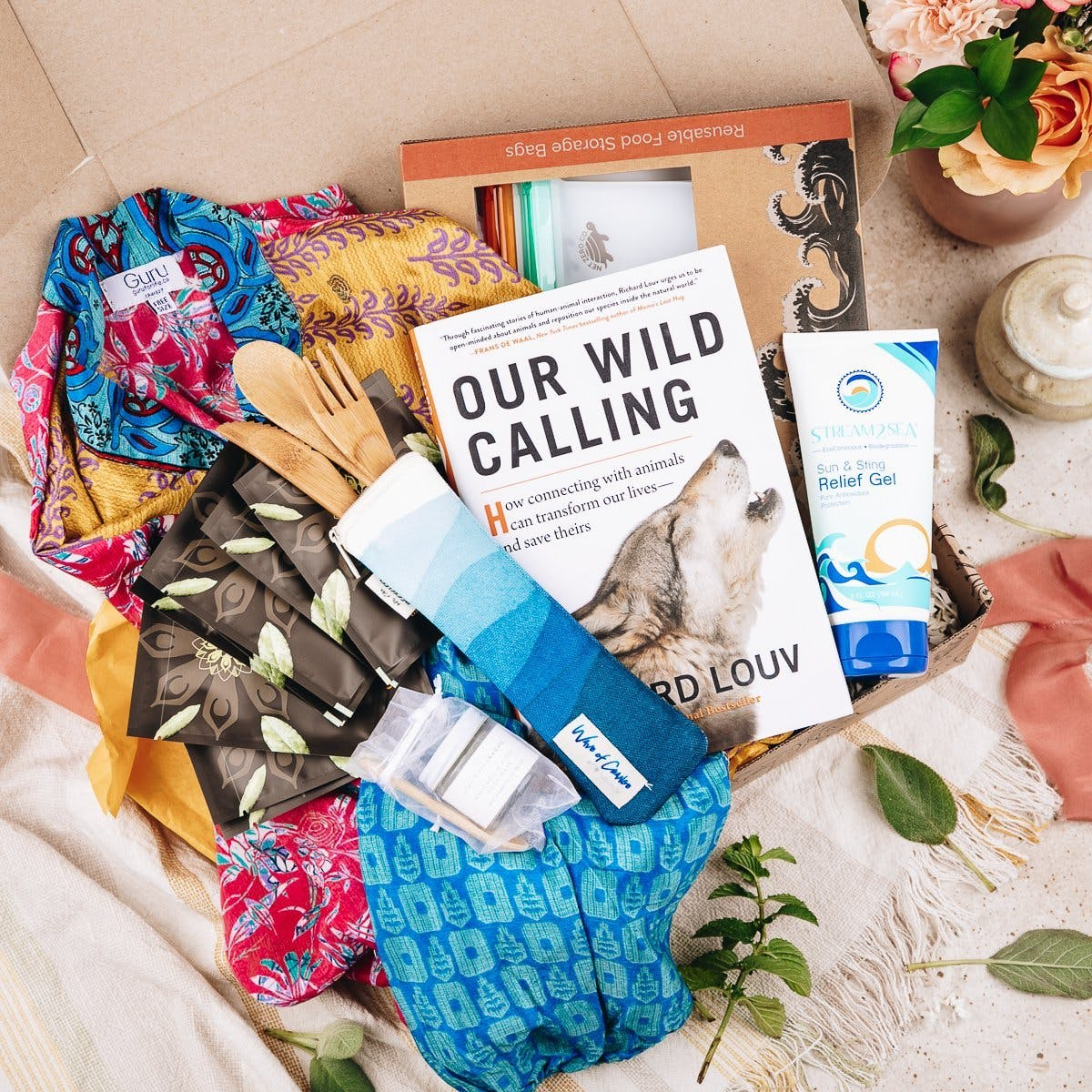 earthlove - self-care subscription box with products in it