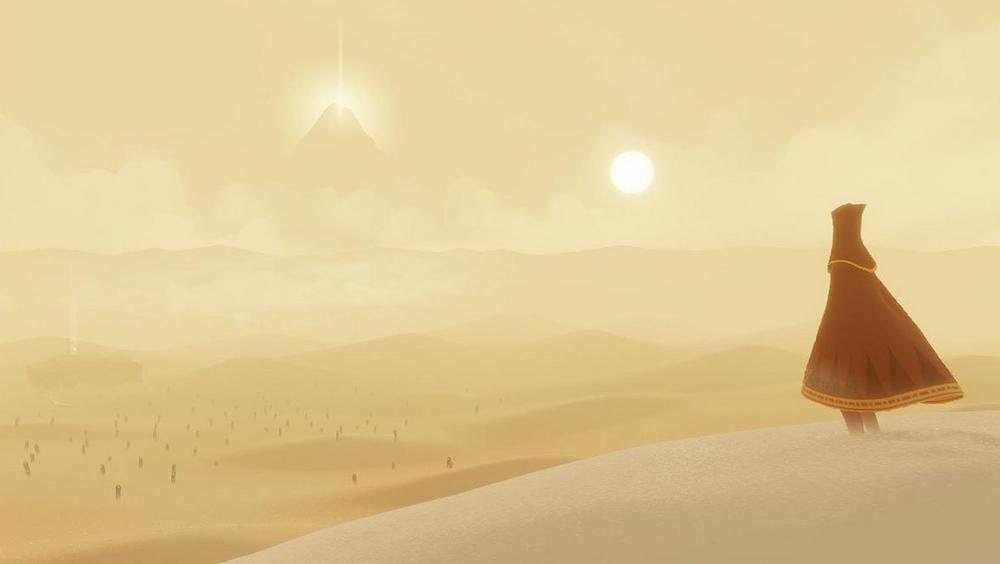screengrab of journey video game
