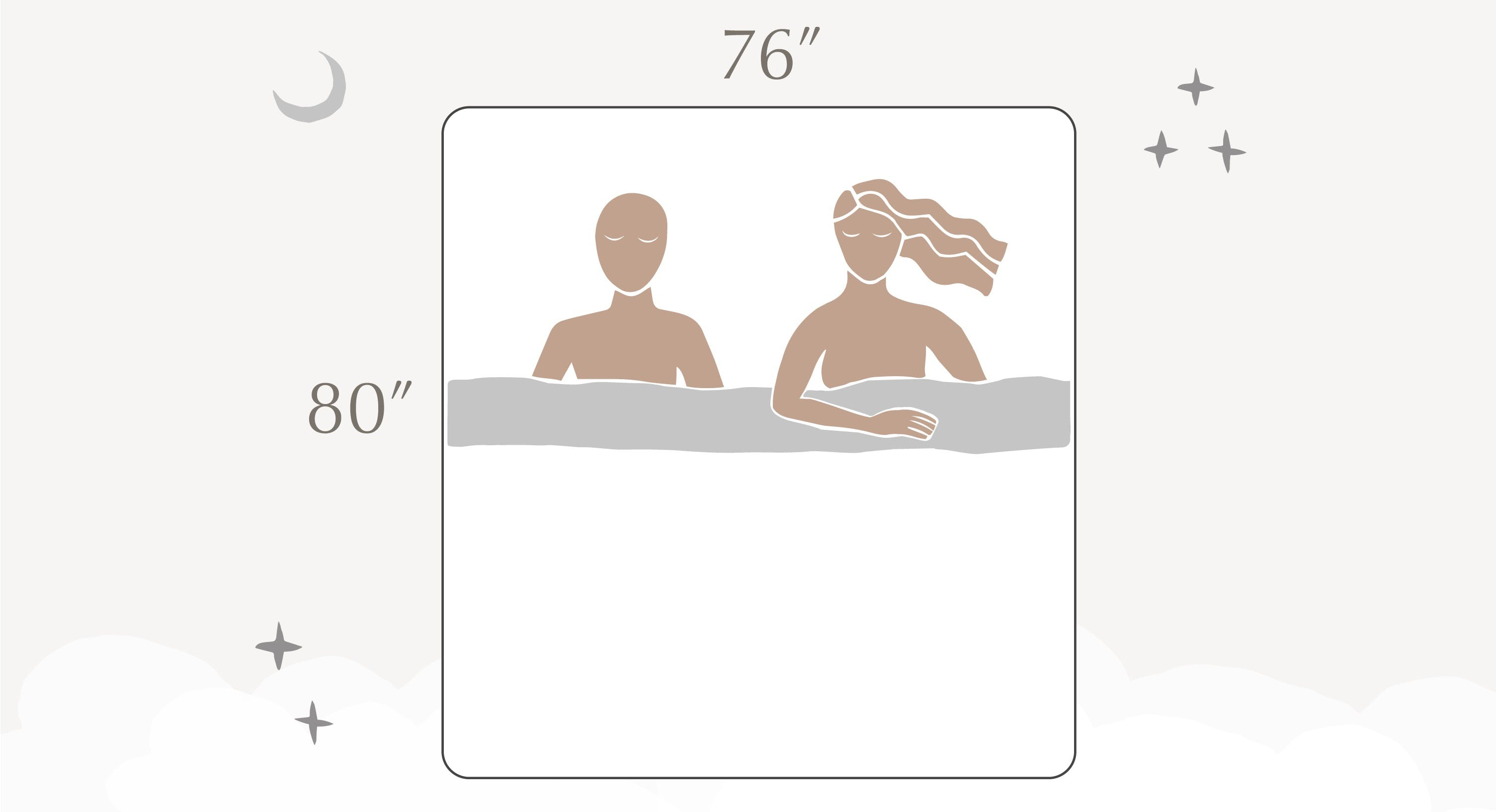 king size bed dimensions illustration