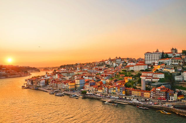 coastal city of porto, portugal