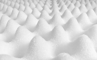 convoluted foam, one of the types of foam in a mattress