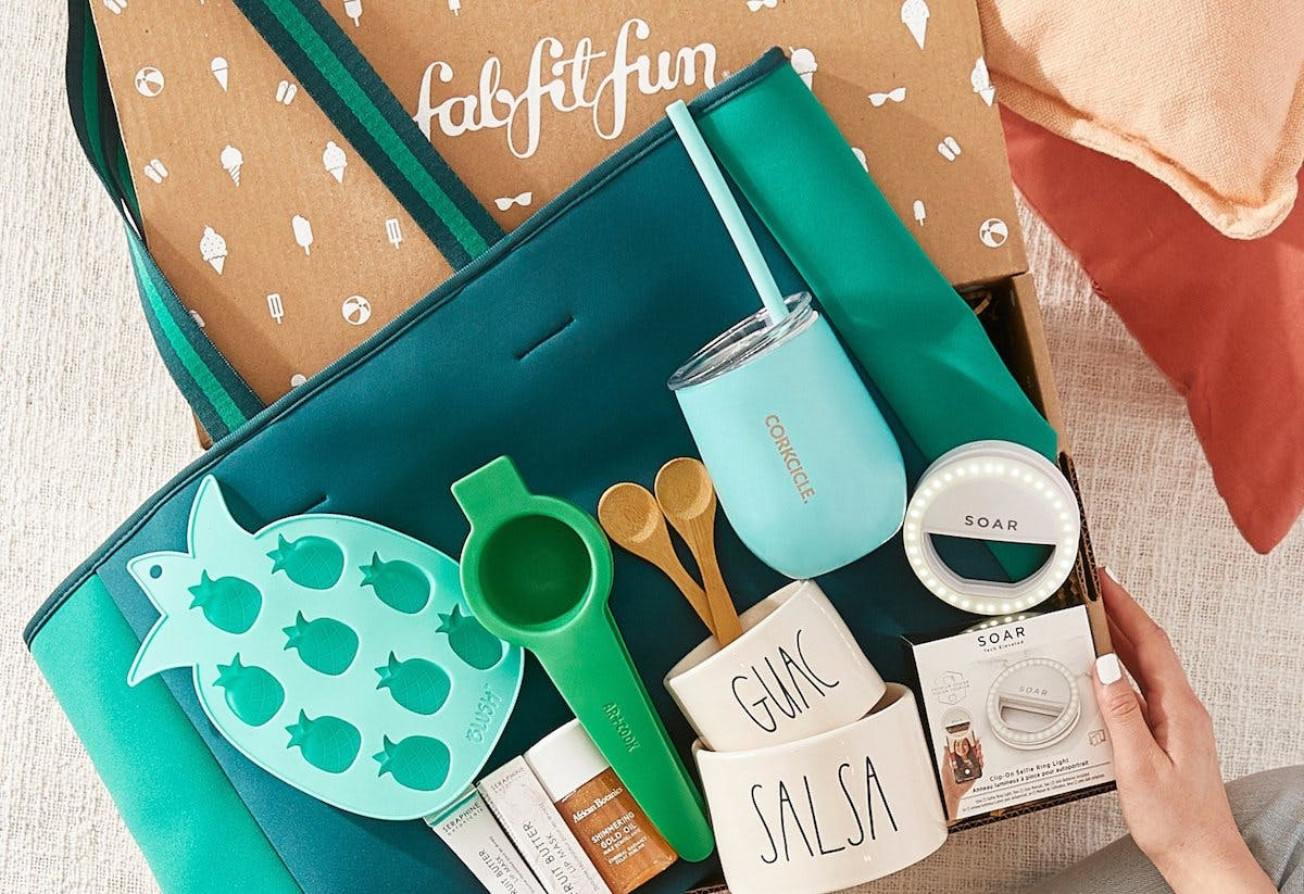 fabfitfun - self-care subscription box with products in it