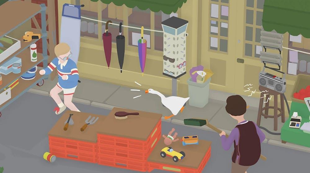 screengrab of untitled goose game video game
