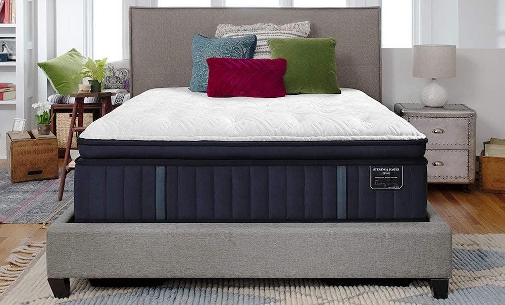 stearns & foster estate rockwell innerspring mattress with pillow top