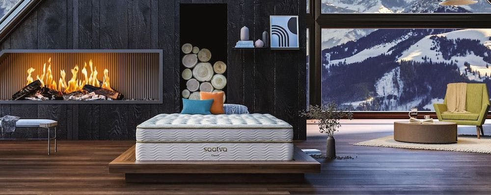 saatva classic innerspring mattress inside cabin