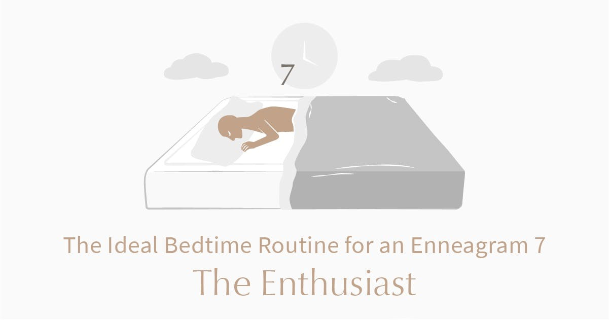 person who is an enneagram type 7 sleeping in bed