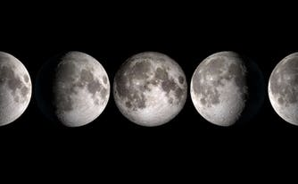does full moon affect sleep - image of lunar phases