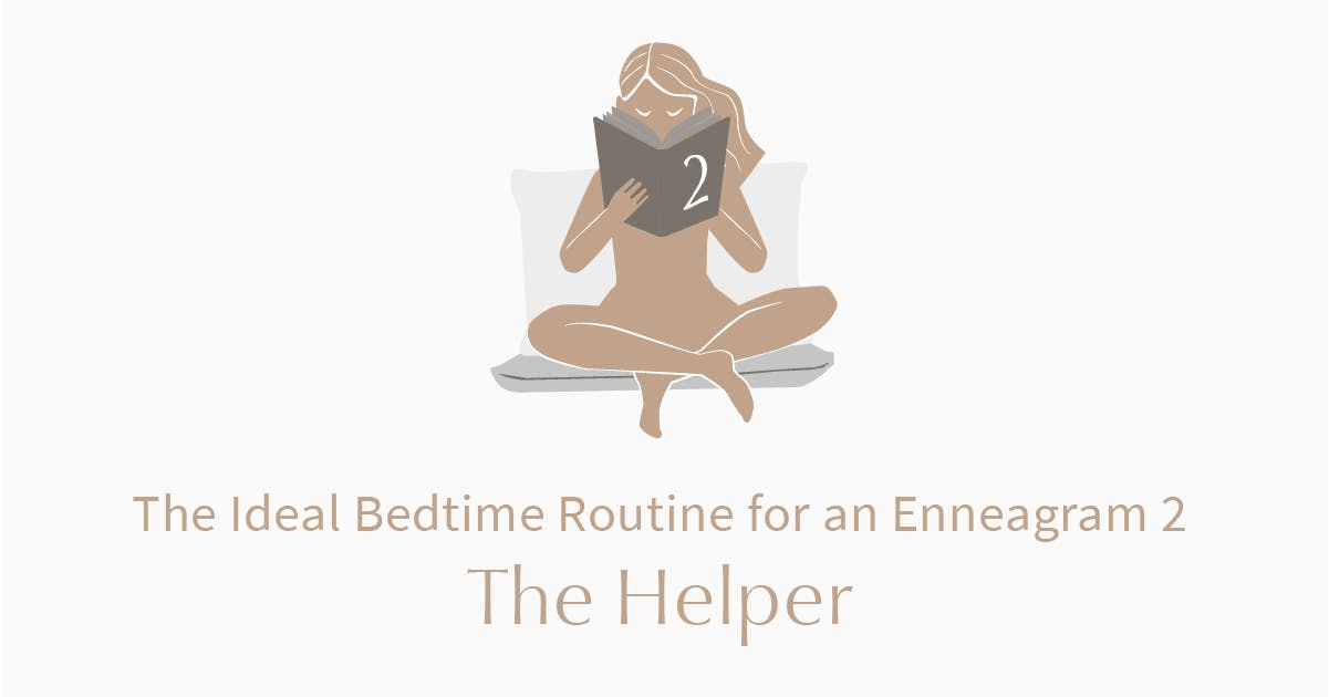 person who is an enneagram type 2 reading a book in bed