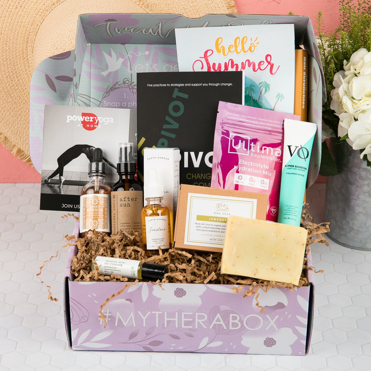 therabox - self-care subscription box with products in it
