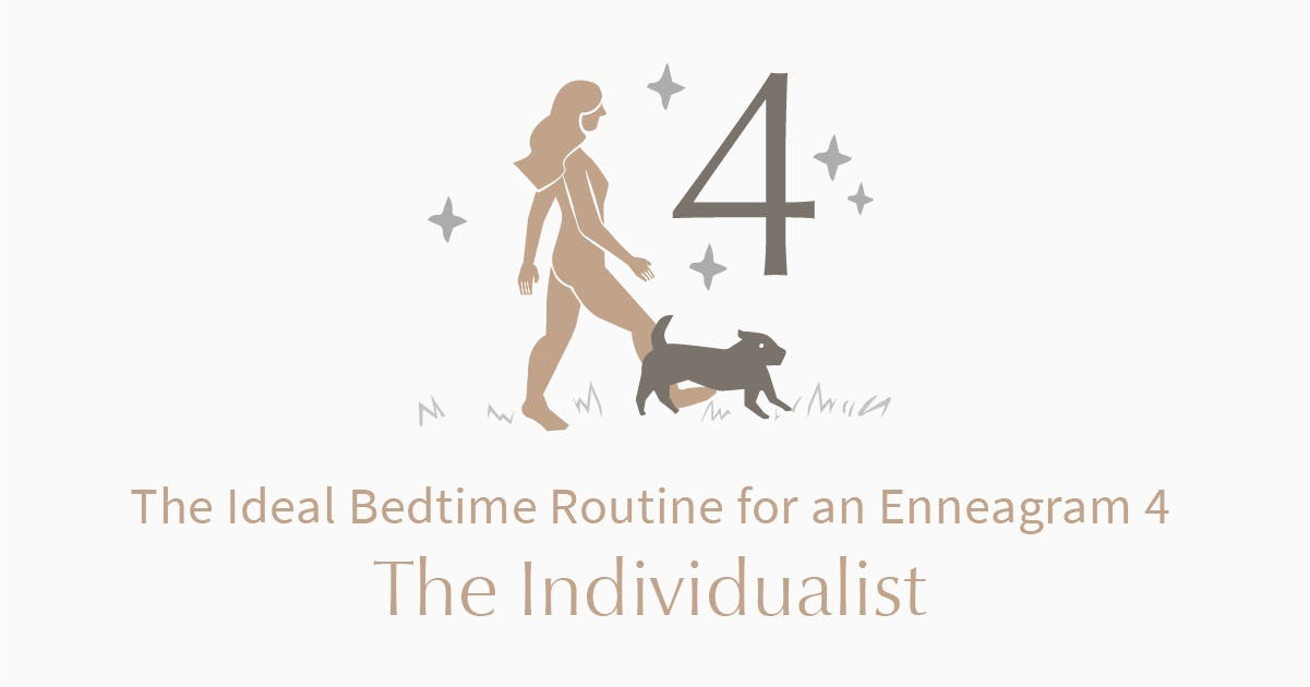 person who is an enneagram type 4 walking dog