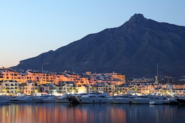 View of Marbella, Spain coastline