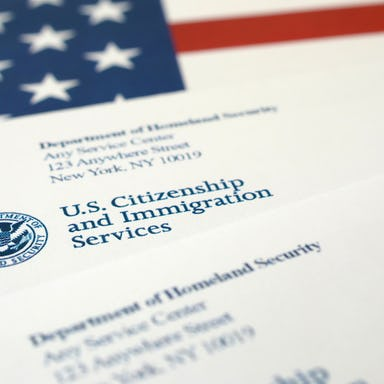 Letter from the United States Citizenship and Immigration Services