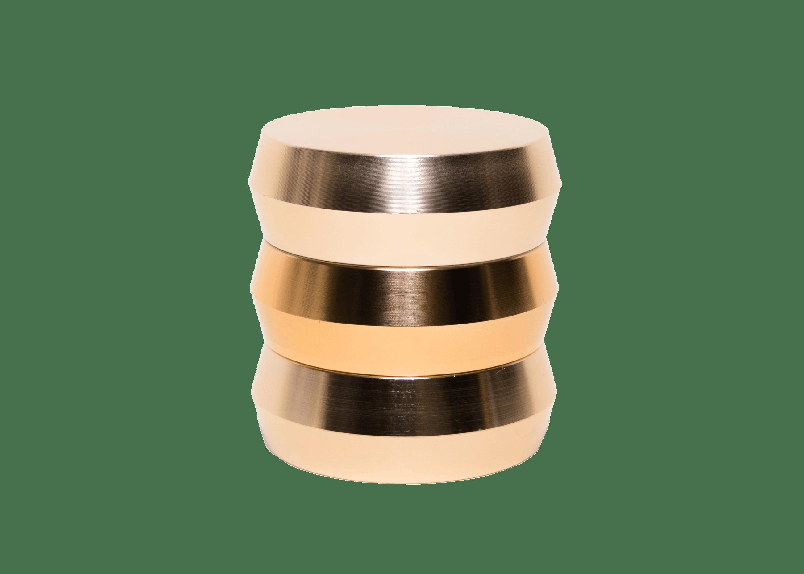 gilded grinder gold herb grinder