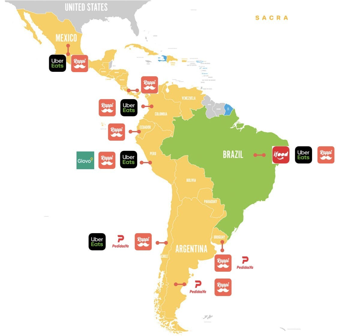 Rappi Usage Map