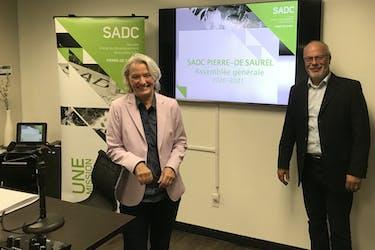 Sylvie Pouliot, directrice générale et Pierre-André Émond, président de la SADC Pierre-De Saurel