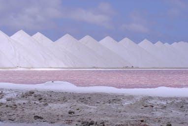 Salt pyramids Bonaire