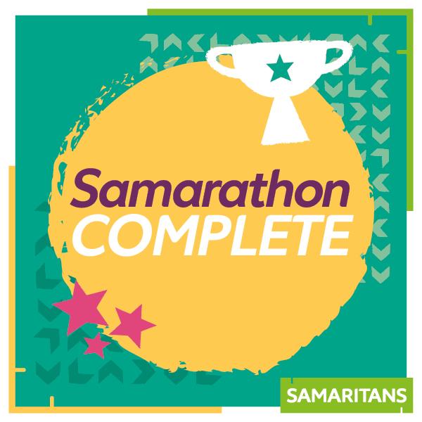Samarathon complete - milestone badge