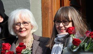 Jóhanna Sigurðardóttir og Jónína Leósdóttir