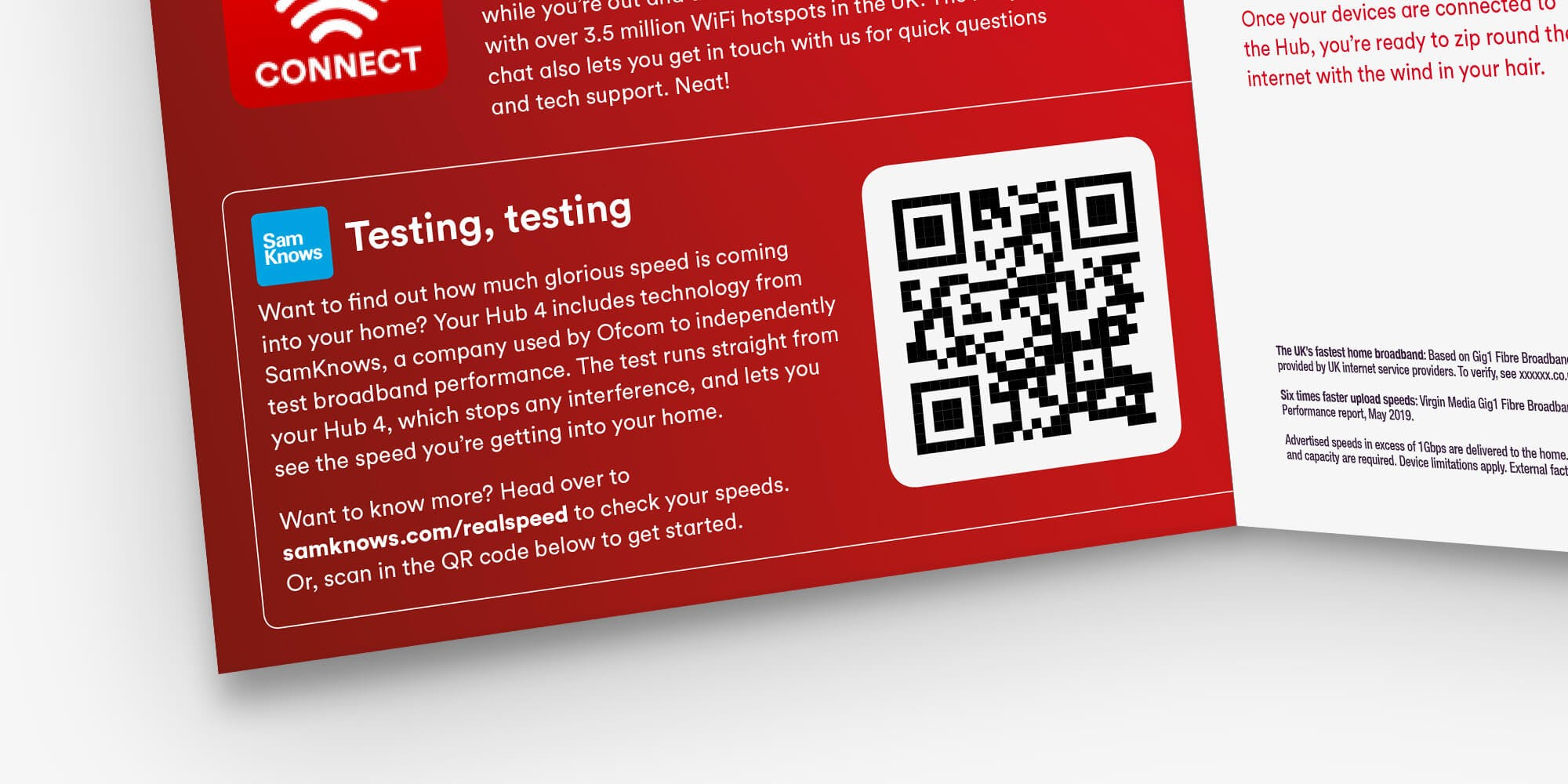 Scan the QR code in your Virgin Media Fibre Guide