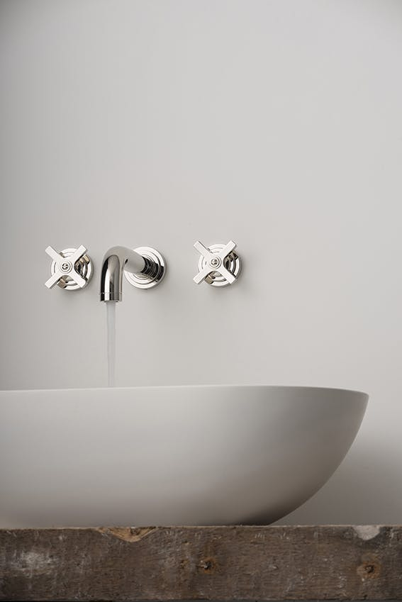 Samuel Heath LMK Pure WRAS approved brass basin tap in Polished Nickel