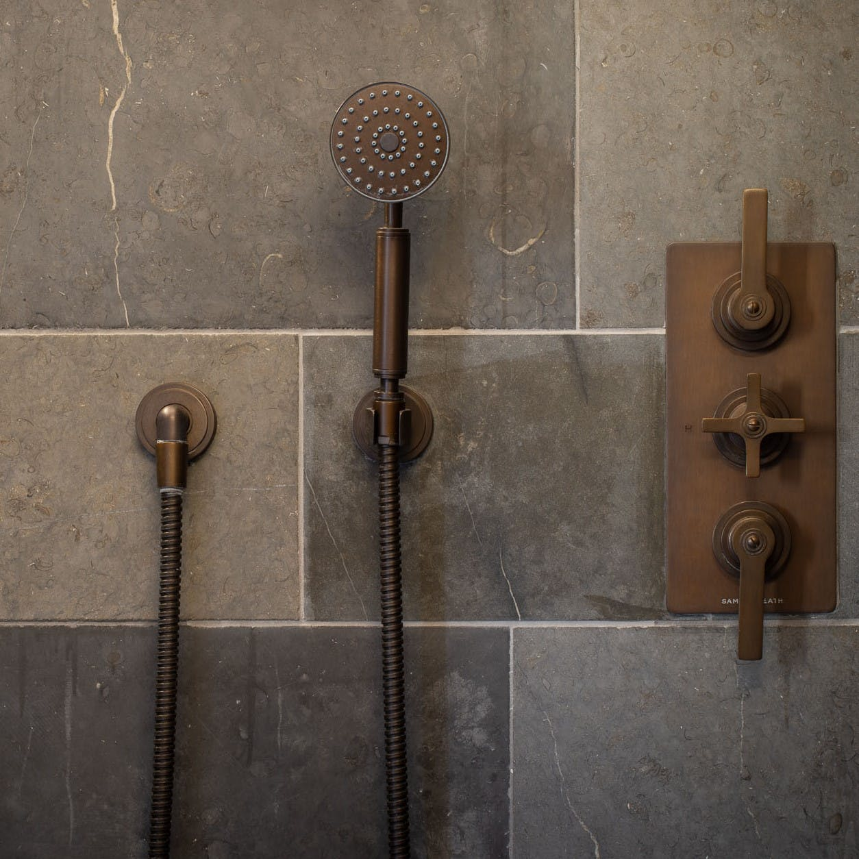 Samuel Heath LMK Pure shower in a bronze finish