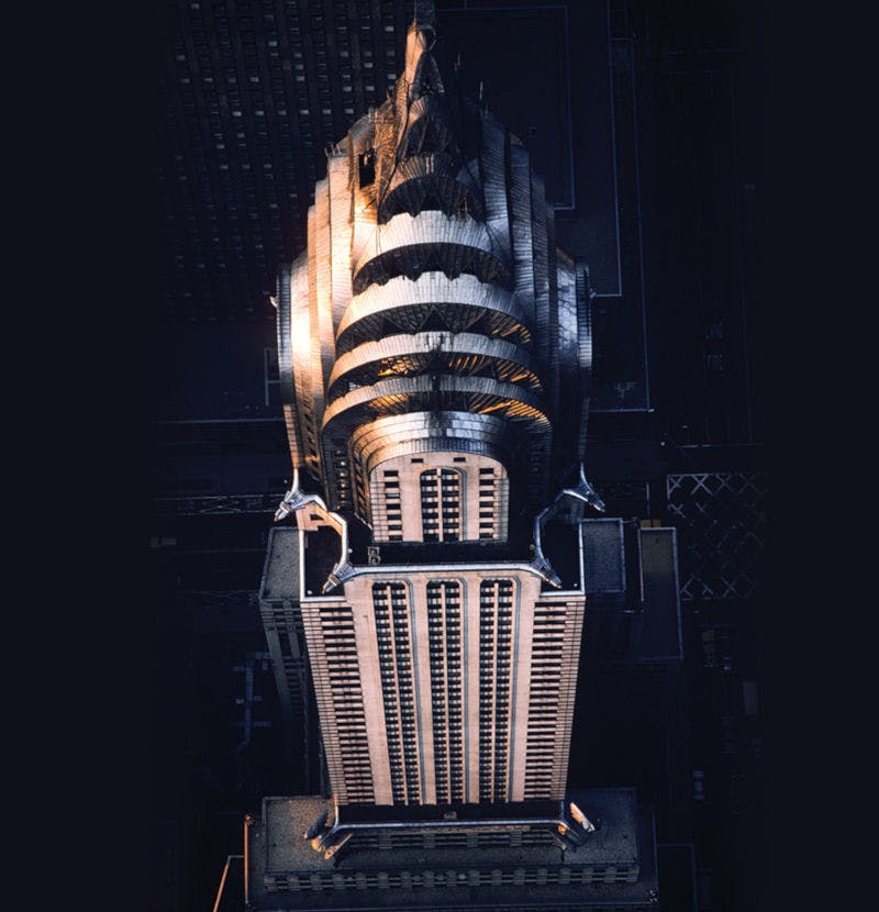 Empire State Building NYC which inspires Samuel Heat's art deco brassware collection Style Moderne.