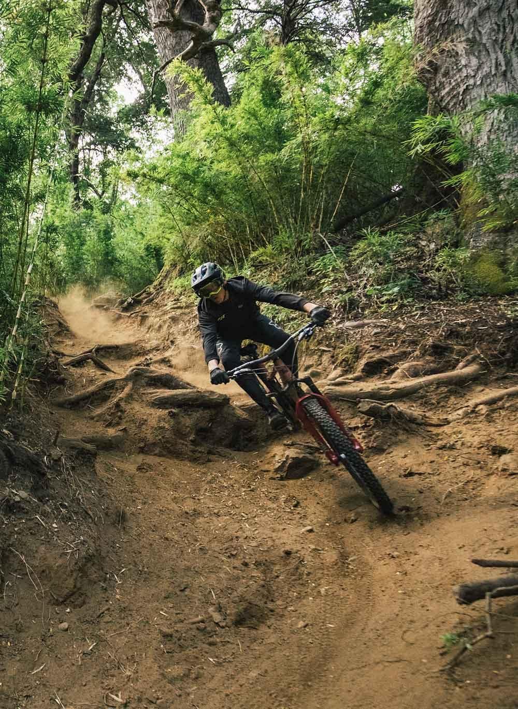 Romain Paulhan riding his mountain bike