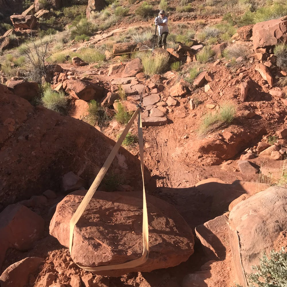 Moab Trail Mix trail work - working on new Raptor trail route