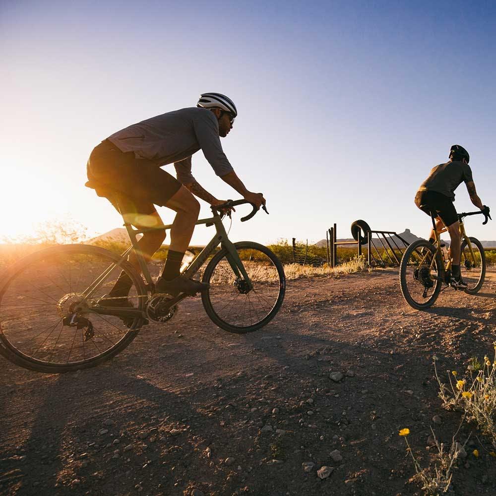 Riding the Stigmata gravel bike on dirt roads