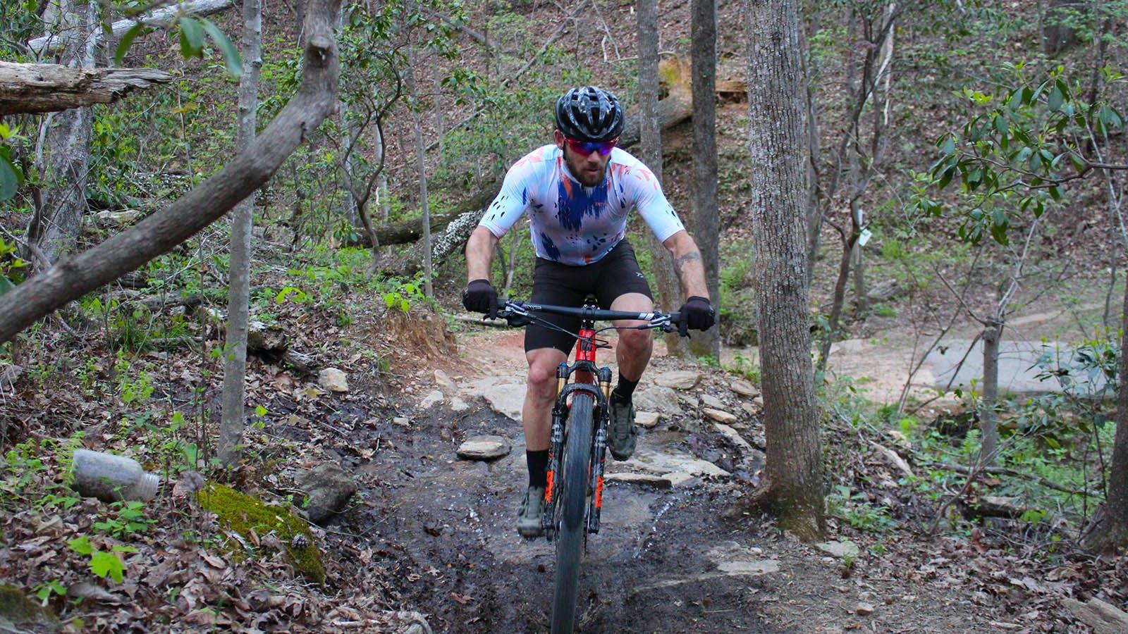 Andrew Dahlheim riding singletrack