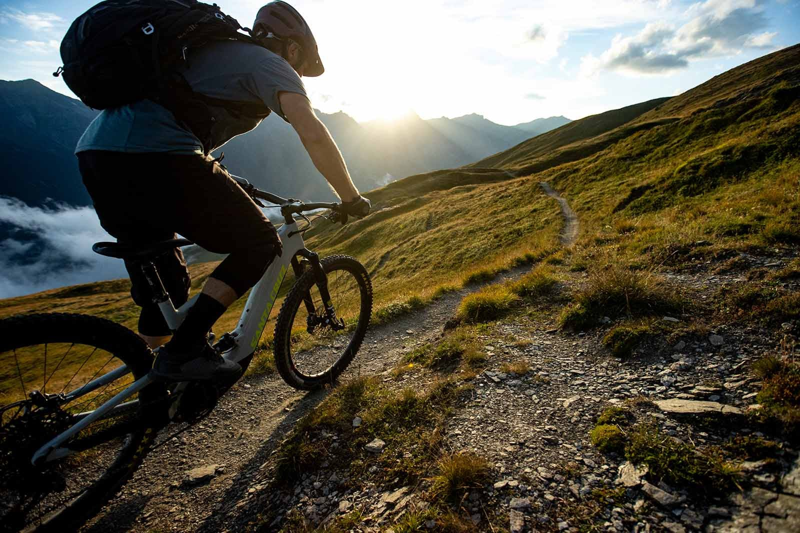 Ash Smith pedaling into the sunset on his Heckler MX
