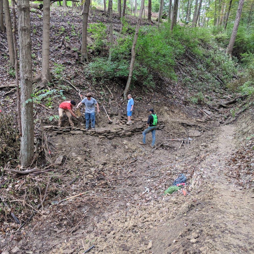 Mt Airy Trail maintenance with Cincinnati Off-Road Alliance (CORA)