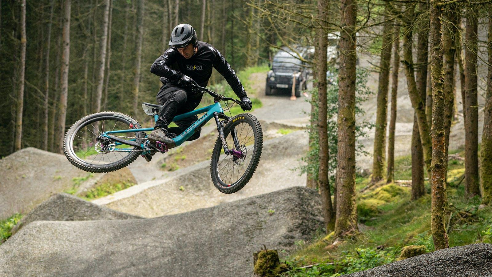 Free Agent rider Josh Lewis jumping his 5010