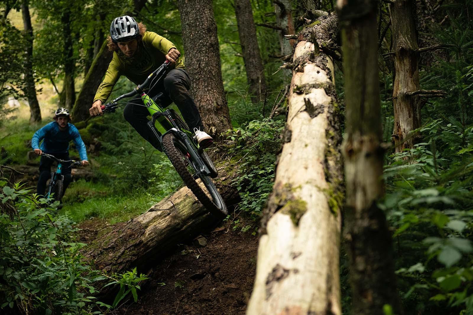 Sam Dale riding his Nomad mountain bike