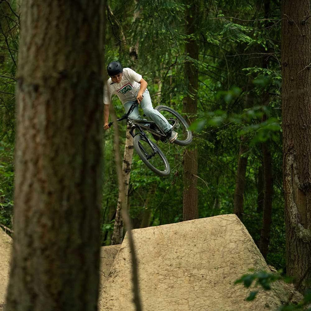 Rider jumping the Jackal
