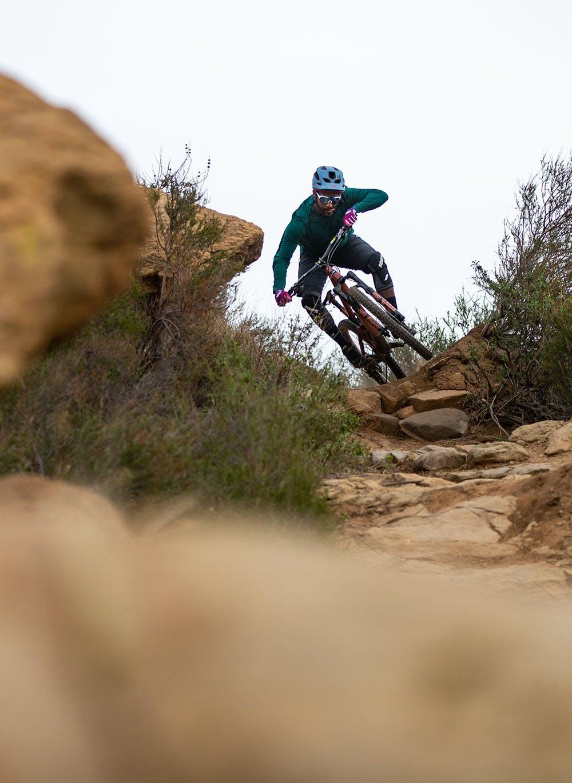 Eliot Jackson mountain biking in the desert